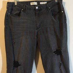 HIGHRISE JEANS DISTRESSED SKINNY JESSICA SIMPSON